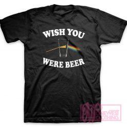 Wish You Were Beer Pink Floyd Parody T-Shirt