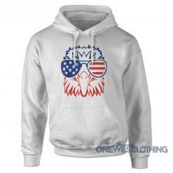 Patriotic Eagle Fourth Of July Hoodie
