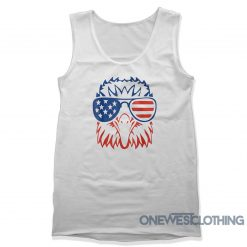 Patriotic Eagle Fourth Of July Tank Top
