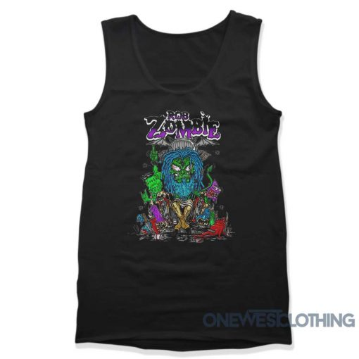 Rob Zombie Baphomet Cartoon Tank Top